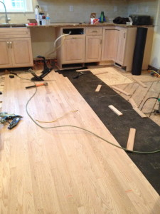 Kitchen floor in process.