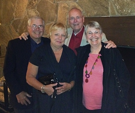 "Lou and Bill with the ""Ski Twins, Connie and Joan, October, 2014"