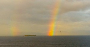 Double rainbow over Lake Champlain, Burlington, Vermont. By, Z. Thomas Zabski