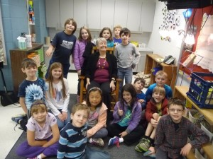 Me with yesterdays class of third graders at Meriwether Lewis Elementary School.