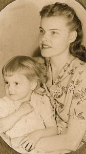 My mother and me, many years ago.